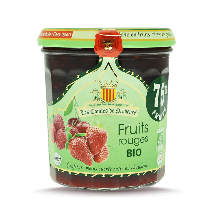 Confiture de Fruits Rouges 75%