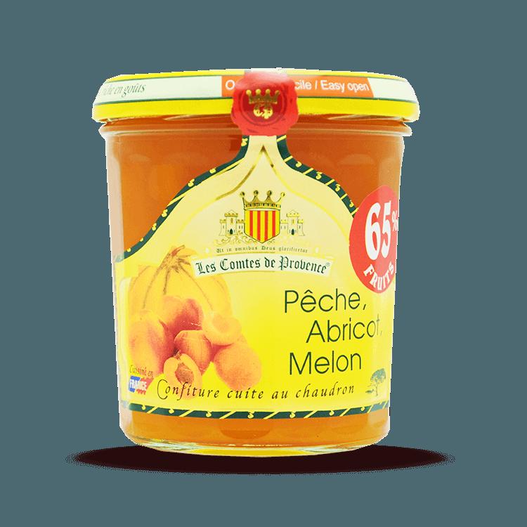 Confiture de Pêches Abricots Melons