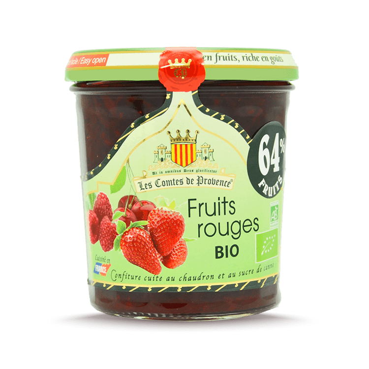 Confiture de fruits rouges BIO