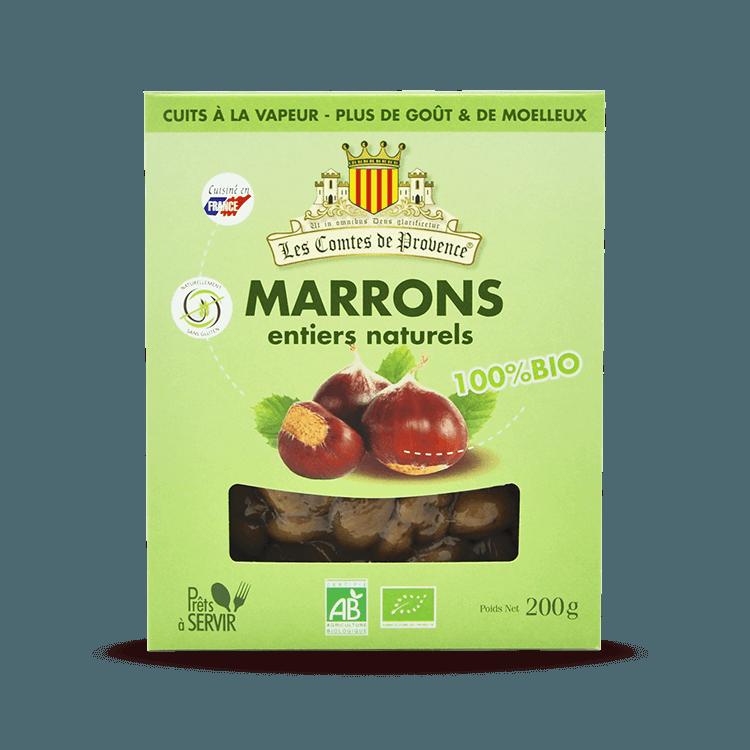 Marrons entiers Naturels BIO 200g