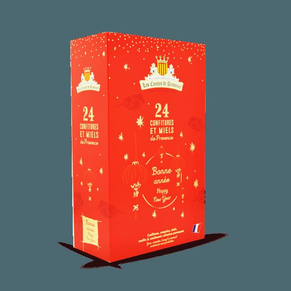 Calendrier de l'avent chinois confitures et miels de Provence