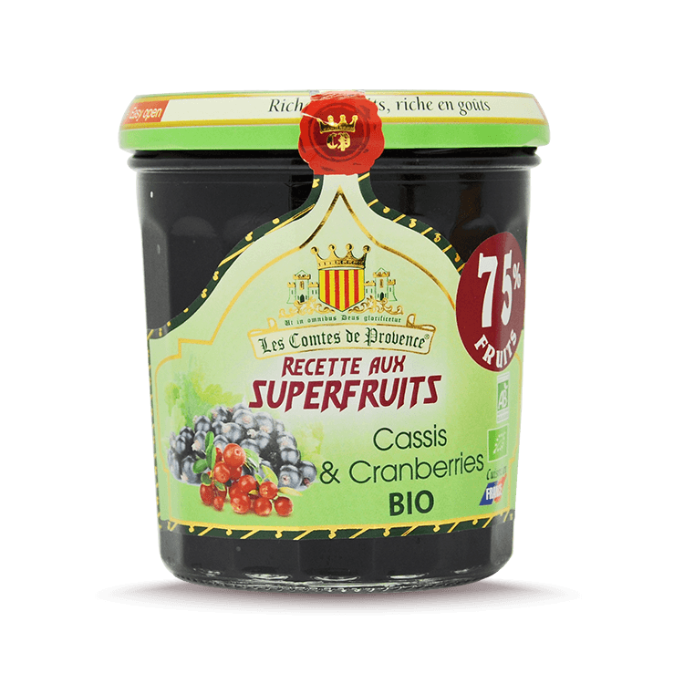 Confiture de Cassis Cranberries BIO